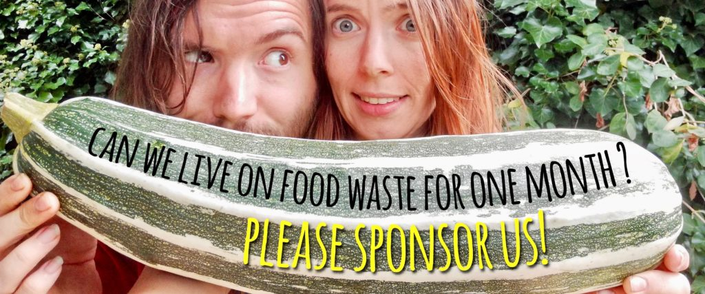 Can we live on food waste for one month?  Please Sponsor Us!