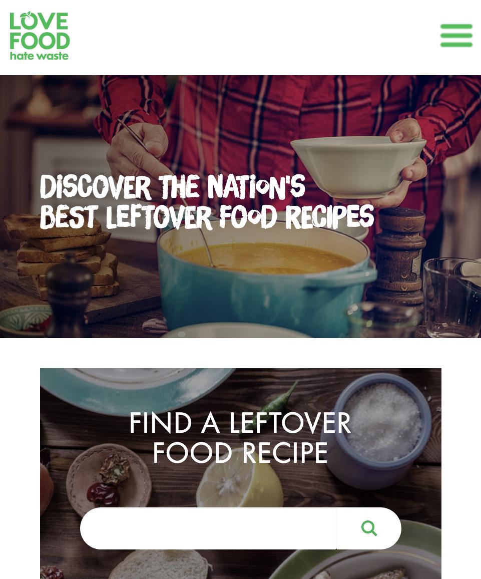 Love food hate waste website