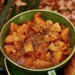 A bowl of warm potato goulash