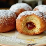 Apricot jam filled donuts