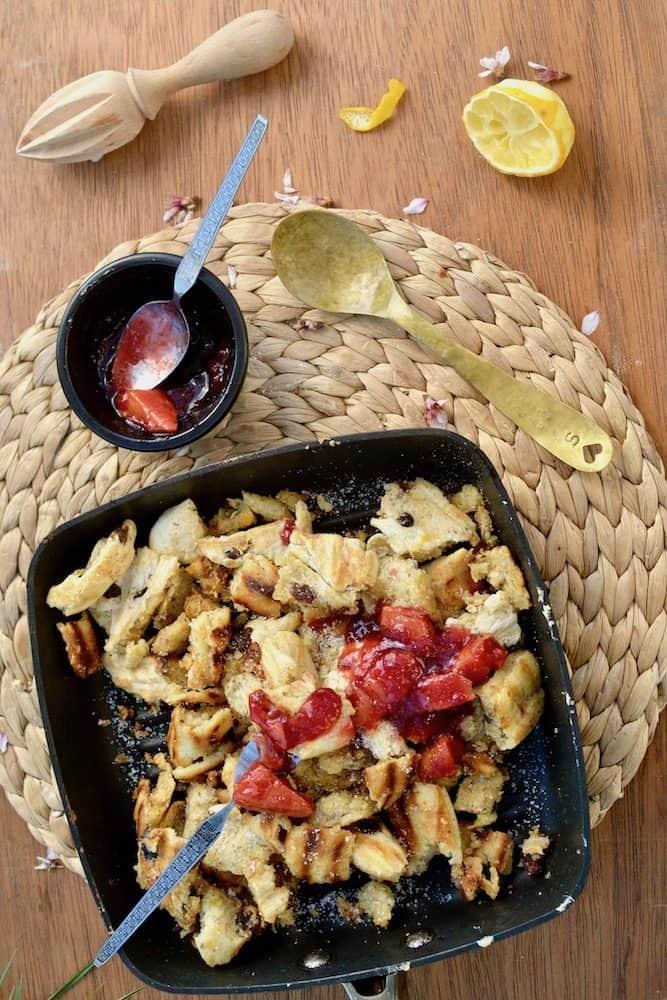 Vegan Kaiserschmarrn (Austrian Pancake Speciality)