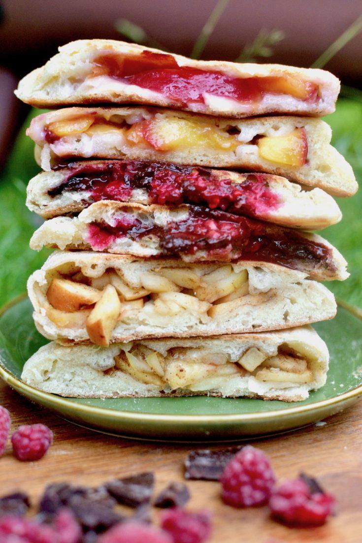 Vegan Dessert Calzone - Three Ways!