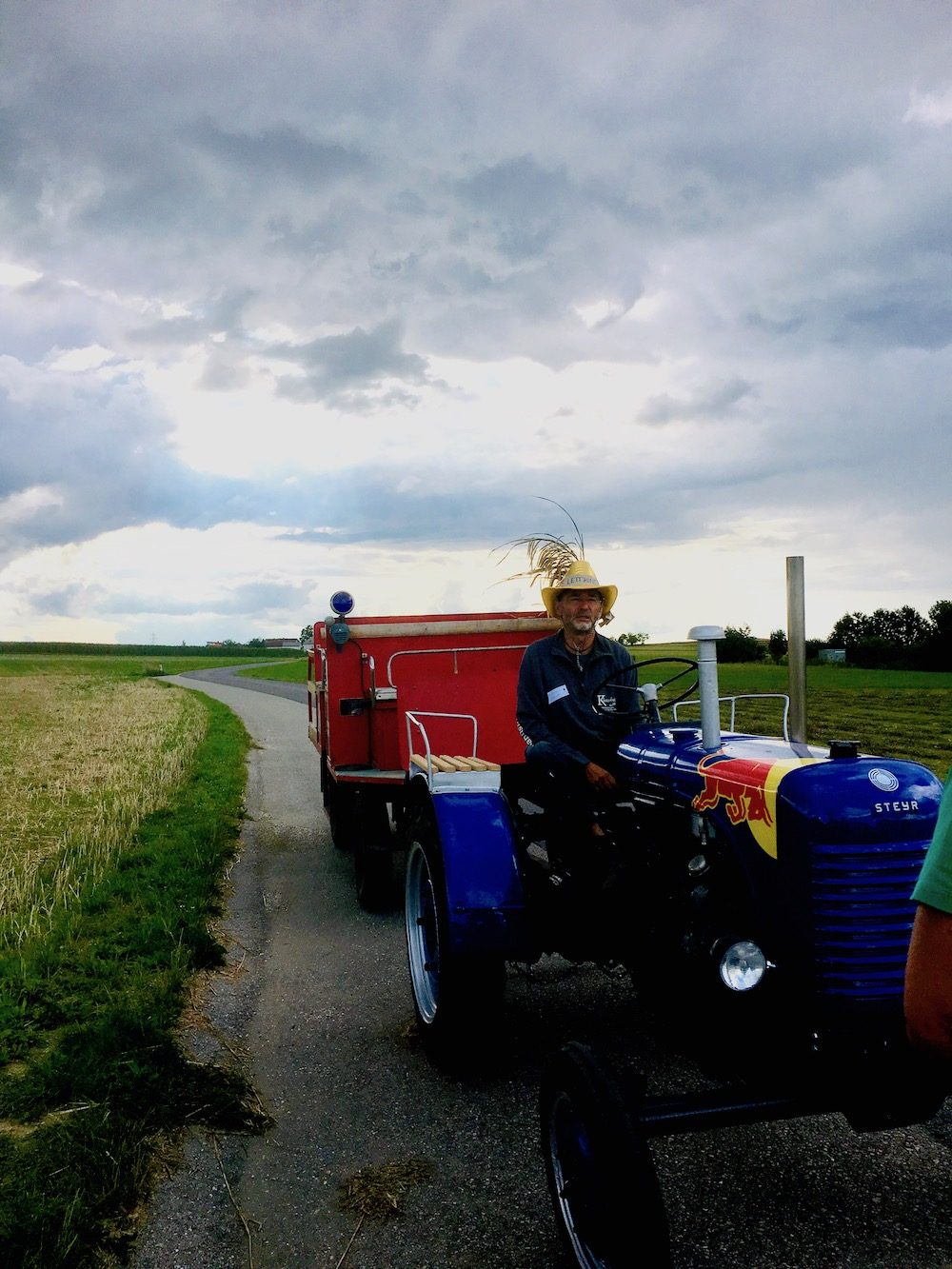 A tractor ride with Hubert