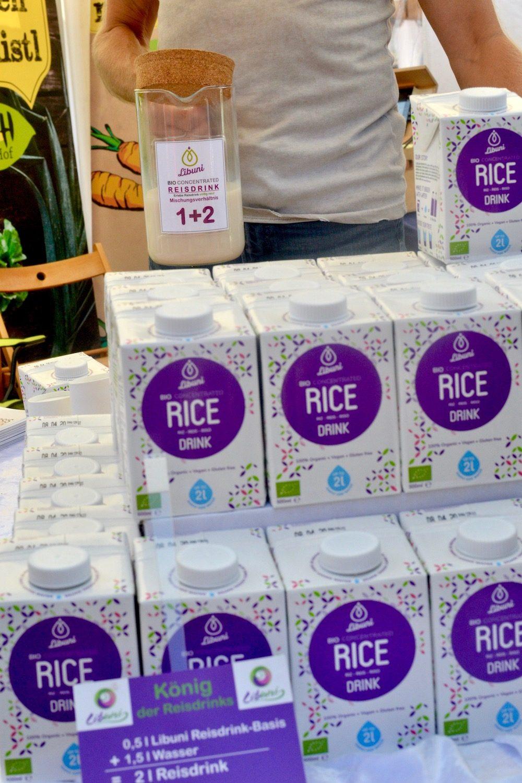 Packs of Libuni rice drink