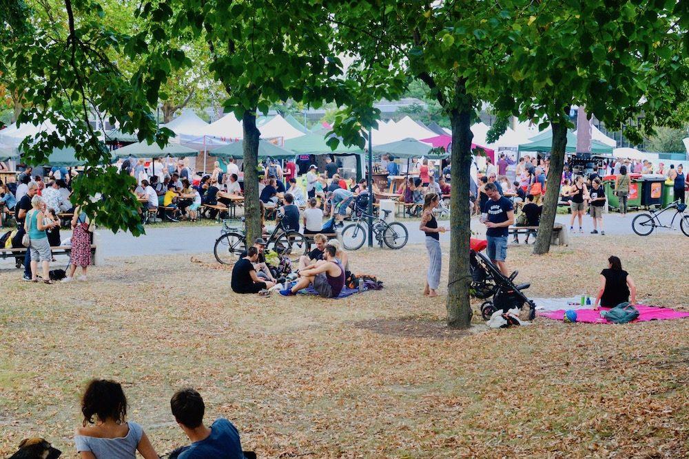 People enjoying the festival