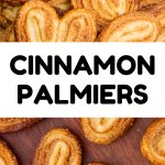 A collage of cookie images, text reads: Cinnamon Palmiers.