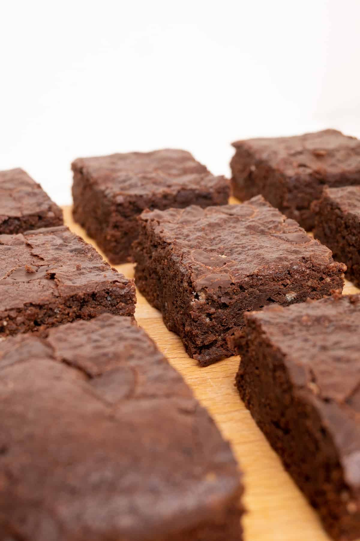 Dense and darkly chocolately pieces of brownie ready to enjoy!