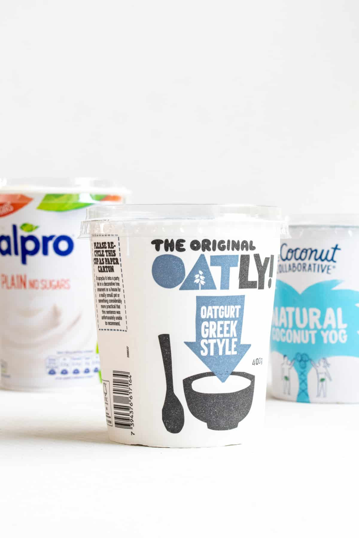 Three different brands of vegan yoghurt. Which one to choose?